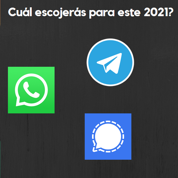 Diferencias entre las tres grandes apps de mensajería WhatsApp VS Telegram VS Signal.